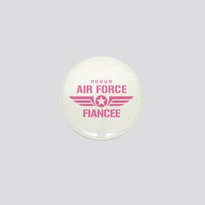 Proud Air Force Fiancee W [pink] Mini Button